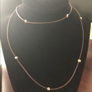 """Silpada Brown Leather Necklace 30"""""""